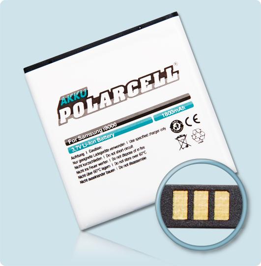 PolarCell-Akku-Samsung-GT-i9001-GT-i9003-EB575152LU-Galaxy-S-Plus-SL-Batterie